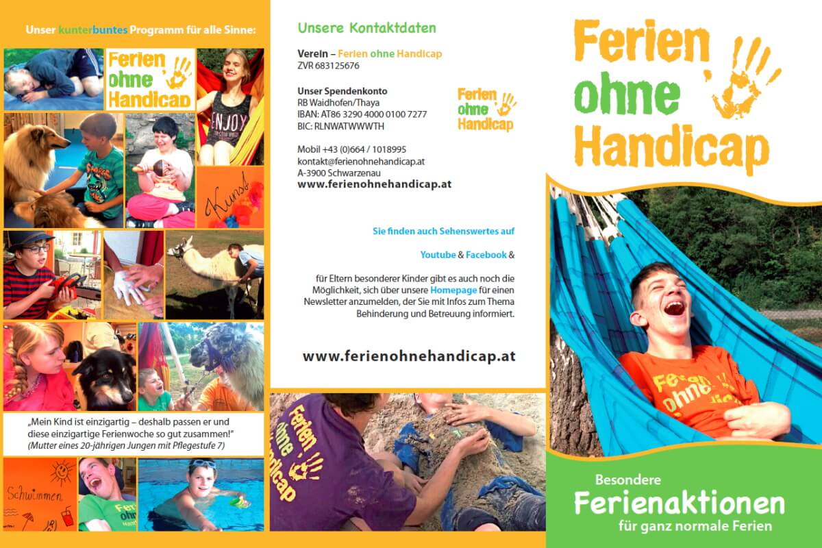 Folder Ferien ohne Handicap